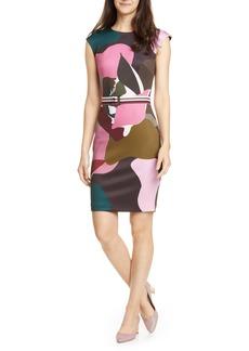 Ted Baker London Strawberry Swirl Body-Con Dress