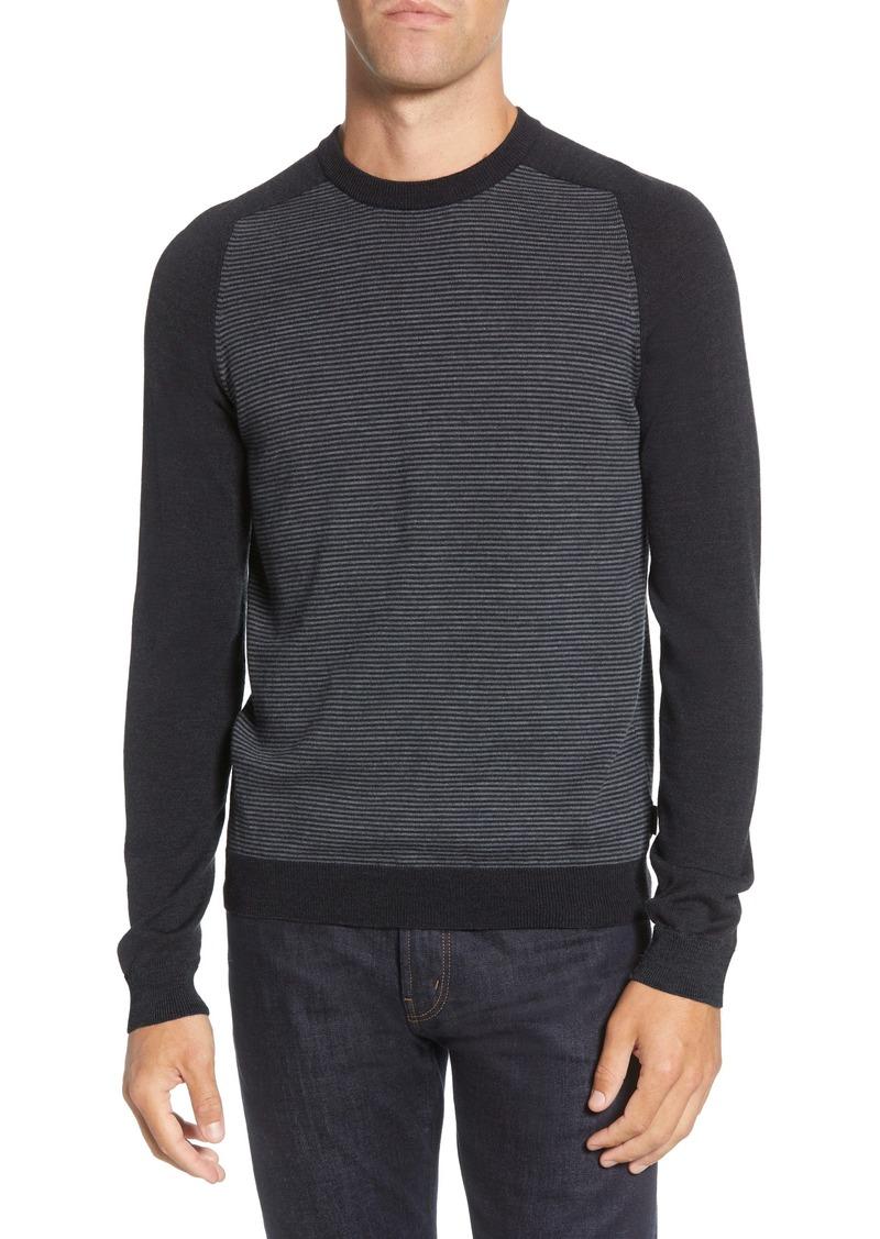 Ted Baker London Stripe Crewneck Sweater