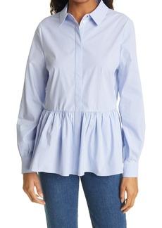 Ted Baker London Stripe Peplum Button-Up Shirt