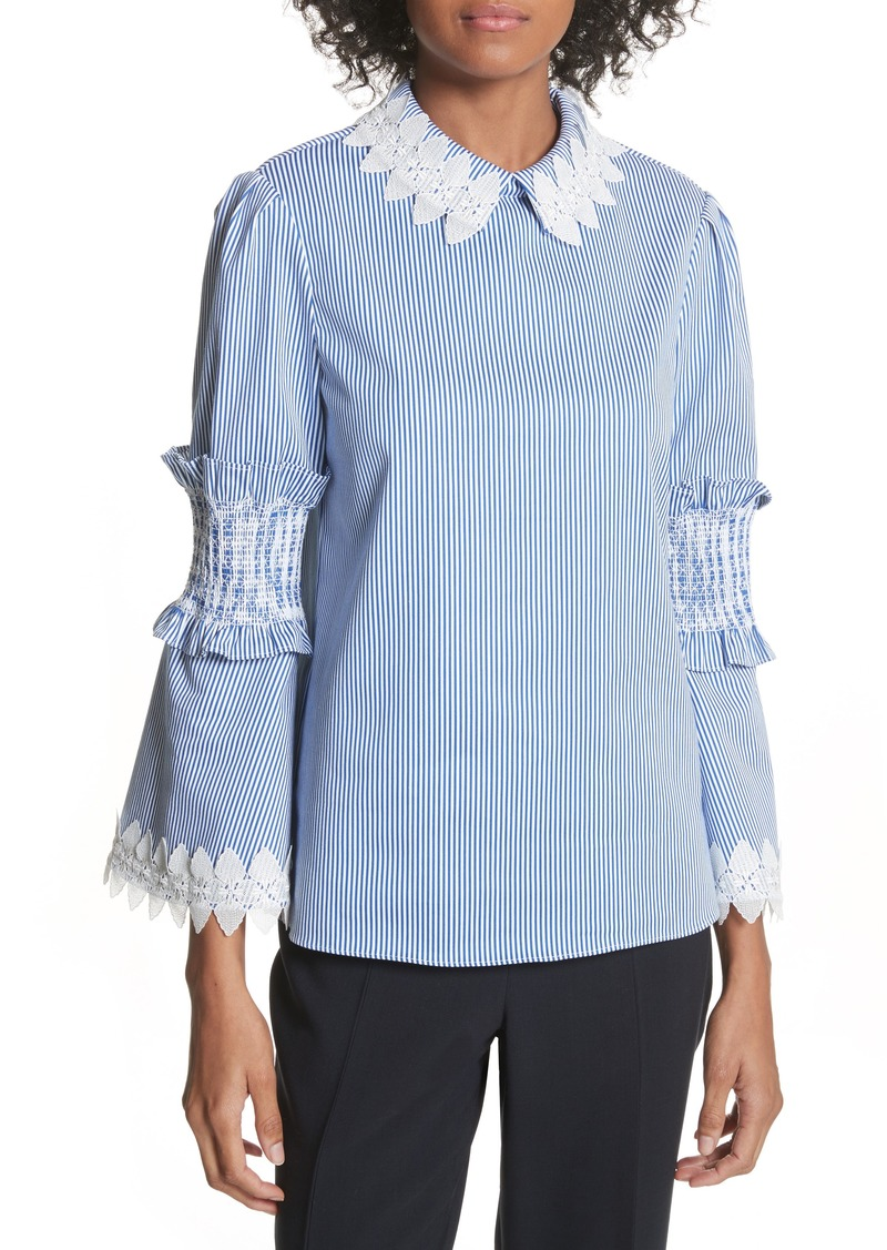 4cfd44ccd4c84 Ted Baker Ted Baker London Stripe Ruffle Sleeve Shirt