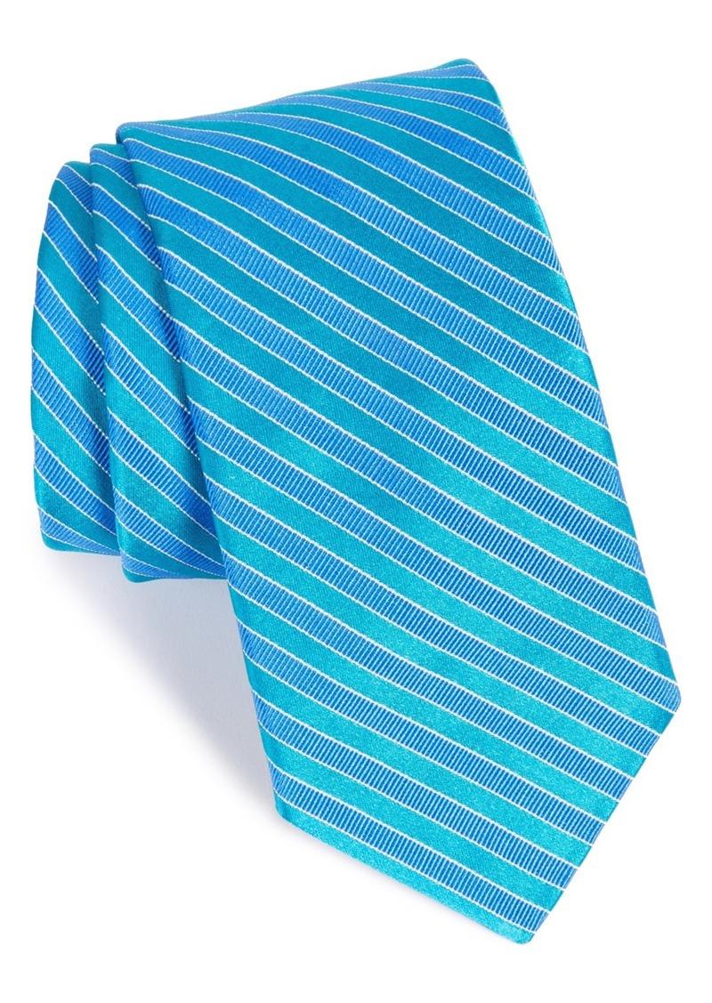 Ted Baker London Stripe Silk & Cotton Tie