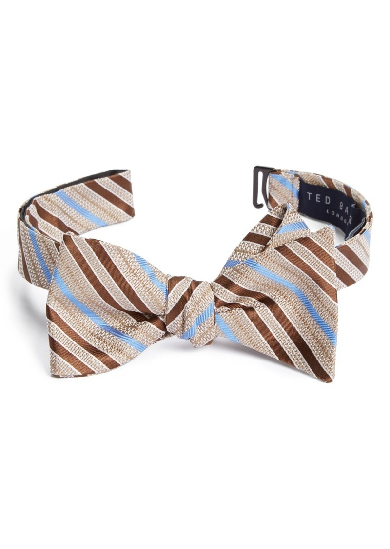 Ted Baker London Stripe Silk Bow Tie
