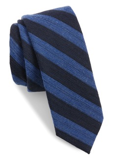 Ted Baker London Stripe Skinny Wool & Silk Tie