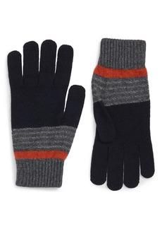 Ted Baker London Striped Knit Gloves