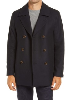 Ted Baker London Summit Double Breasted Wool Blend Jacket