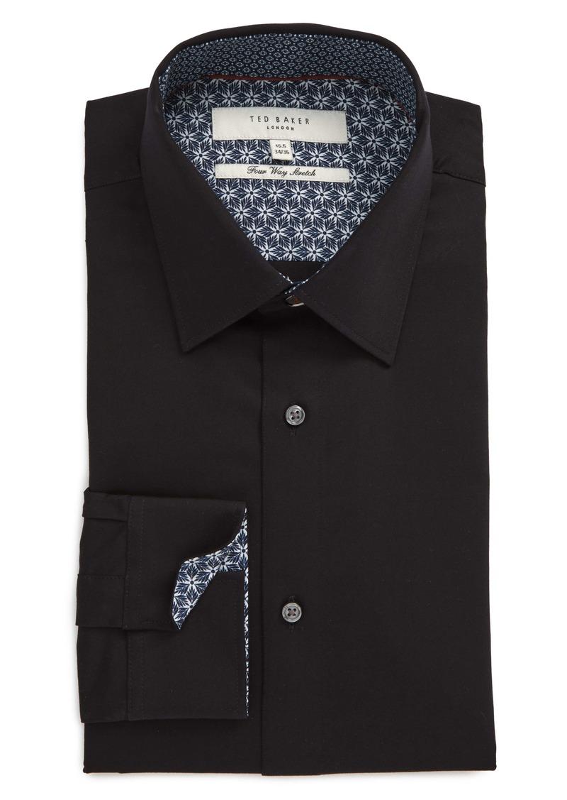 Ted Baker London Sunray Trim Fit Stretch Dress Shirt