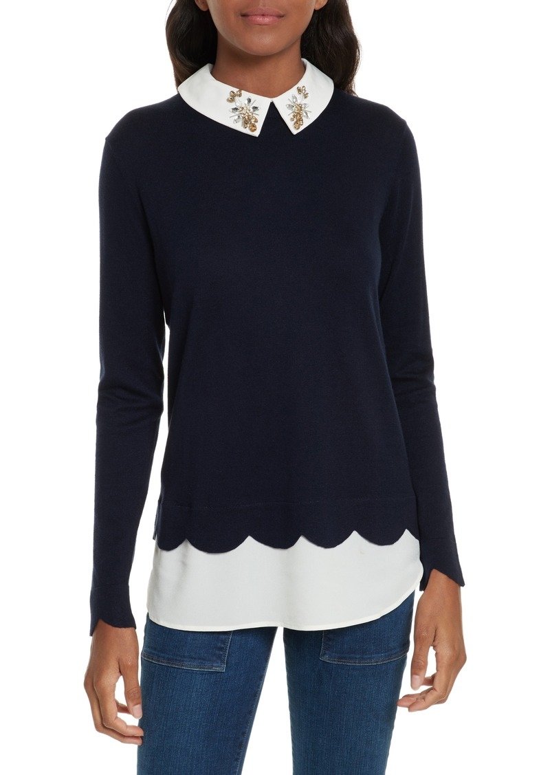 2c50092127cf8 Ted Baker Ted Baker London Suzaine Embellished Layered Look Sweater ...