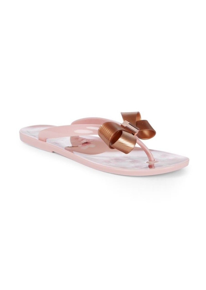 d13038541 Ted Baker Ted Baker London Suzie Floral and Bow Thong Sandals