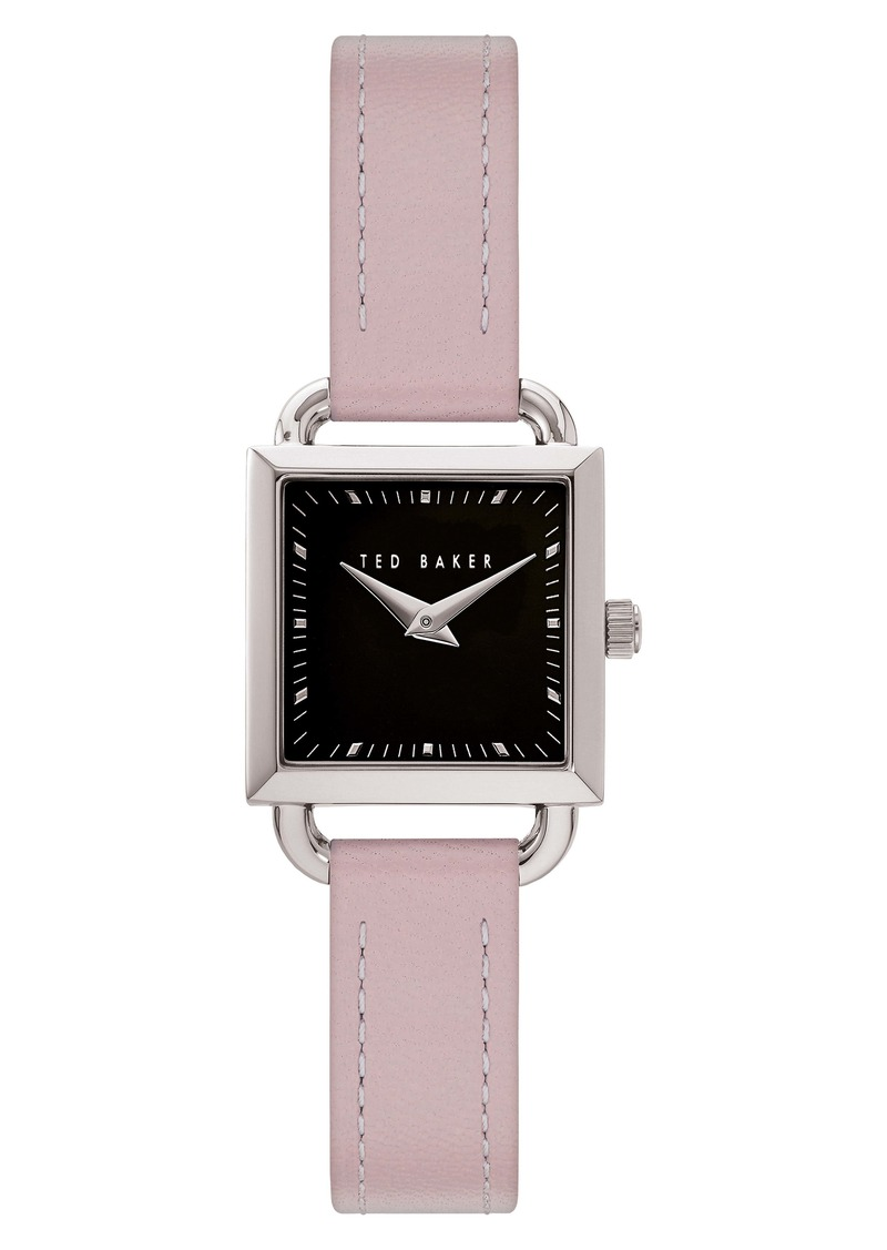 Ted Baker London Taliah Leather Strap Watch, 24mm