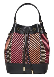 Ted Baker London Taliiaa Woven Faux Leather Bucket Bag