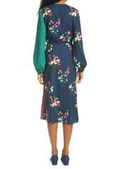 Ted Baker London Talissa Mix Print Long Sleeve Faux Wrap Dress