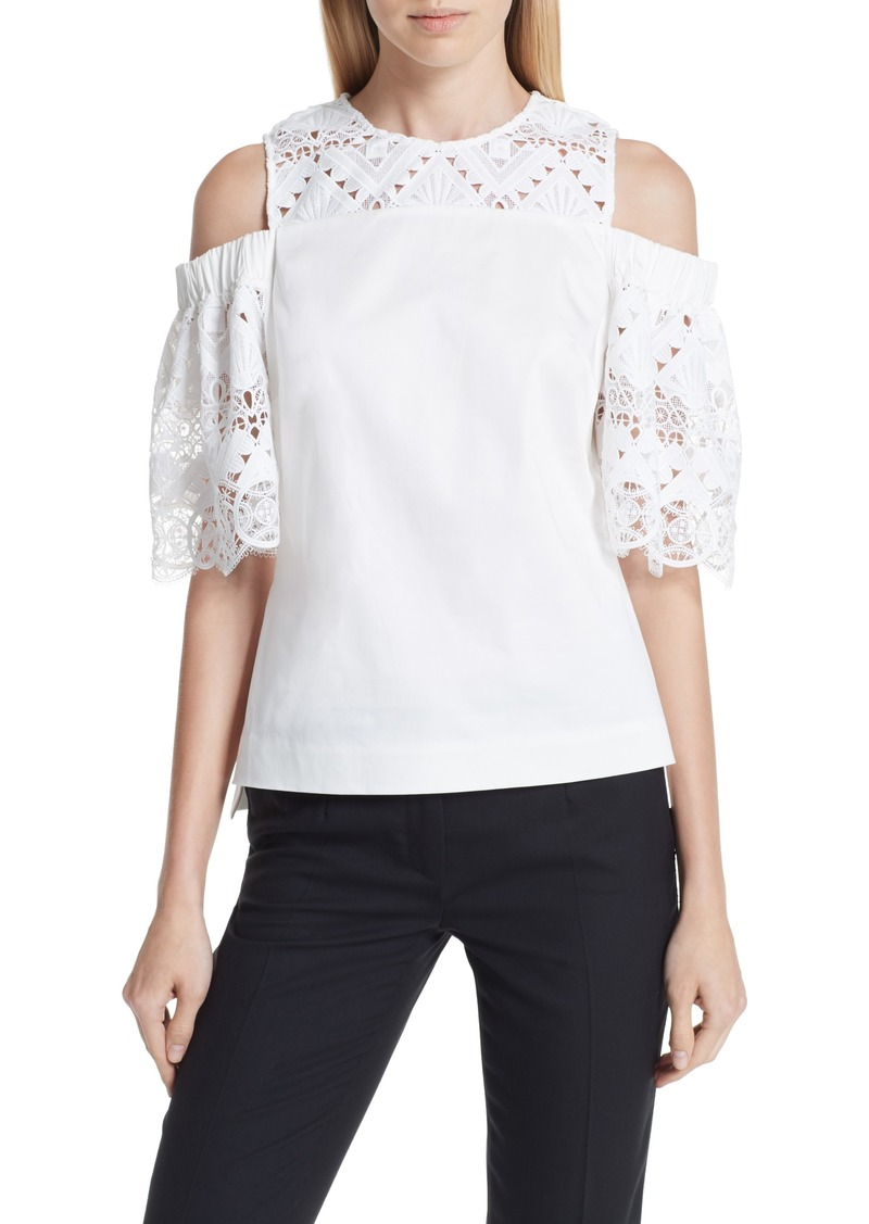 07d25344675a1 Ted Baker Ted Baker London Taluah Mixed Lace Cold Shoulder Blouse ...