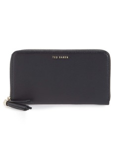 Ted Baker London Tassel Leather Zip Matinée Wallet