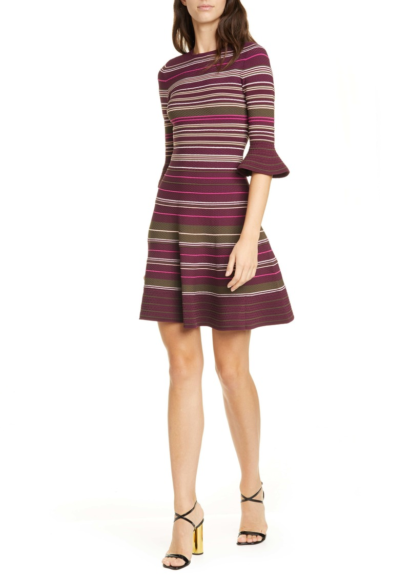 Ted Baker London Tayiny Stripe Ottoman Dress