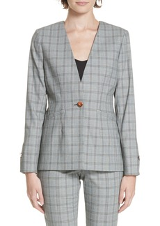 Ted Baker London Ted Working Title Rista Check Blazer