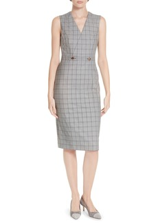Ted Baker London Ted Working Title Ristad Check Sheath Dress
