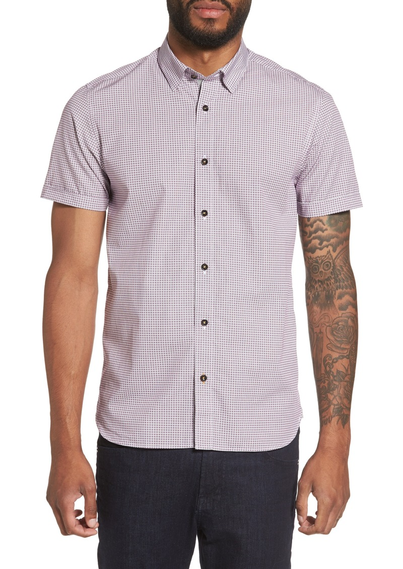 Ted baker ted baker london tennent trim fit microprint for Ted baker shirts sale online