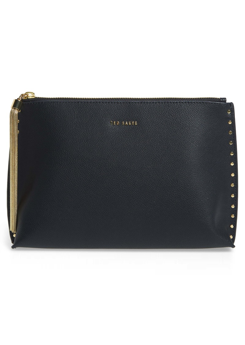 Ted Baker London Tesssa Chain Tassel Leather Evening Bag