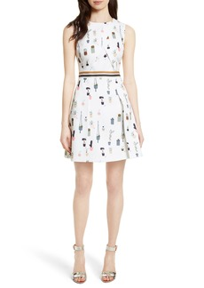 Ted Baker London Tetro Sleeveless Fit & Flare Dress
