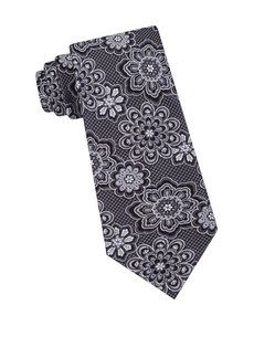 Ted Baker London Textured Floral Silk Tie