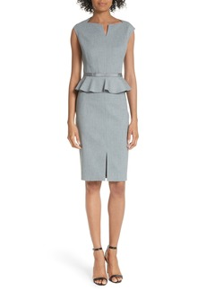 Ted Baker London Textured Peplum Dress