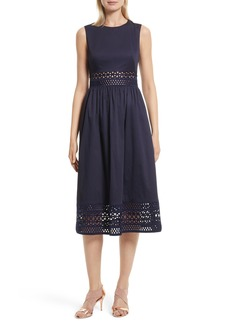 Ted Baker London Tharia Stretch Cotton Midi Dress