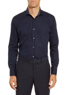 Ted Baker London Thearte Trim Fit Dot Dress Shirt