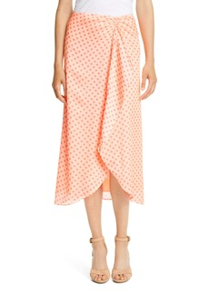 Ted Baker London Tiara Dot Ruched Drape Ruffle Skirt