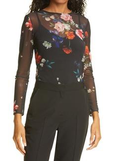 Ted Baker London Tilliyy Floral Long Sleeve Top