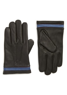 Ted Baker London Tipped Leather Touchscreen Gloves