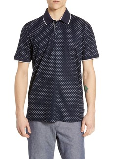 Ted Baker London Toff Slim Fit Print Piqué Polo