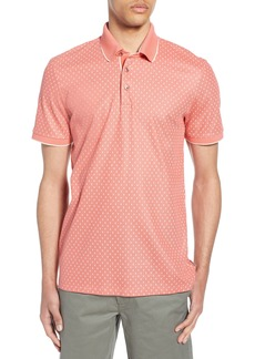 Ted Baker London Tofftt Slim Fit Print Piqué Polo