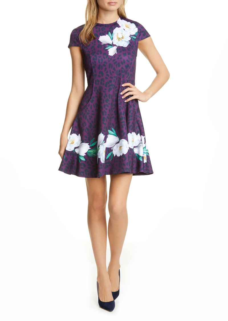 Ted Baker London Tohkoh Wilderness Fit & Flare Dress