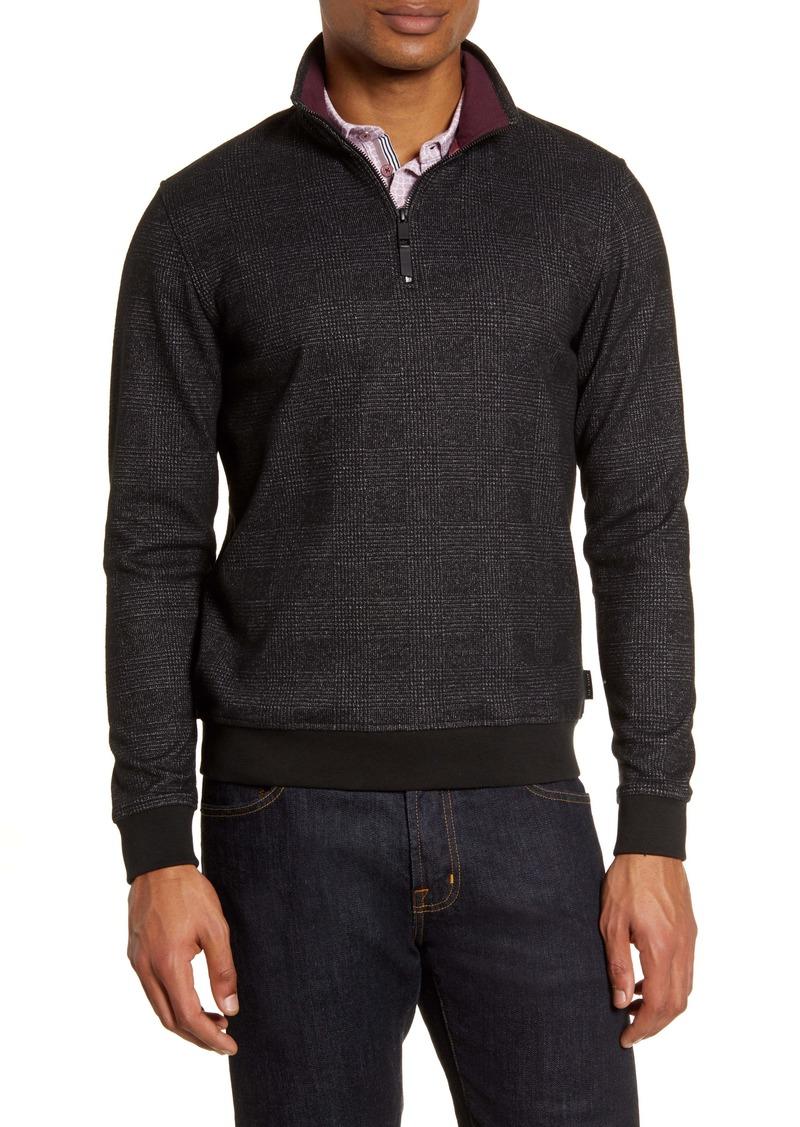 Ted Baker London Token Slim Fit Quarter Zip Pullover