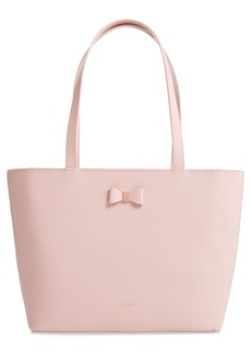 Ted Baker London Tonal Bow Small Leather Shopper