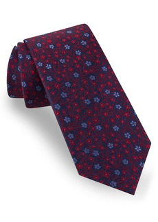Ted Baker London Tonal Flower Cluster Silk Tie