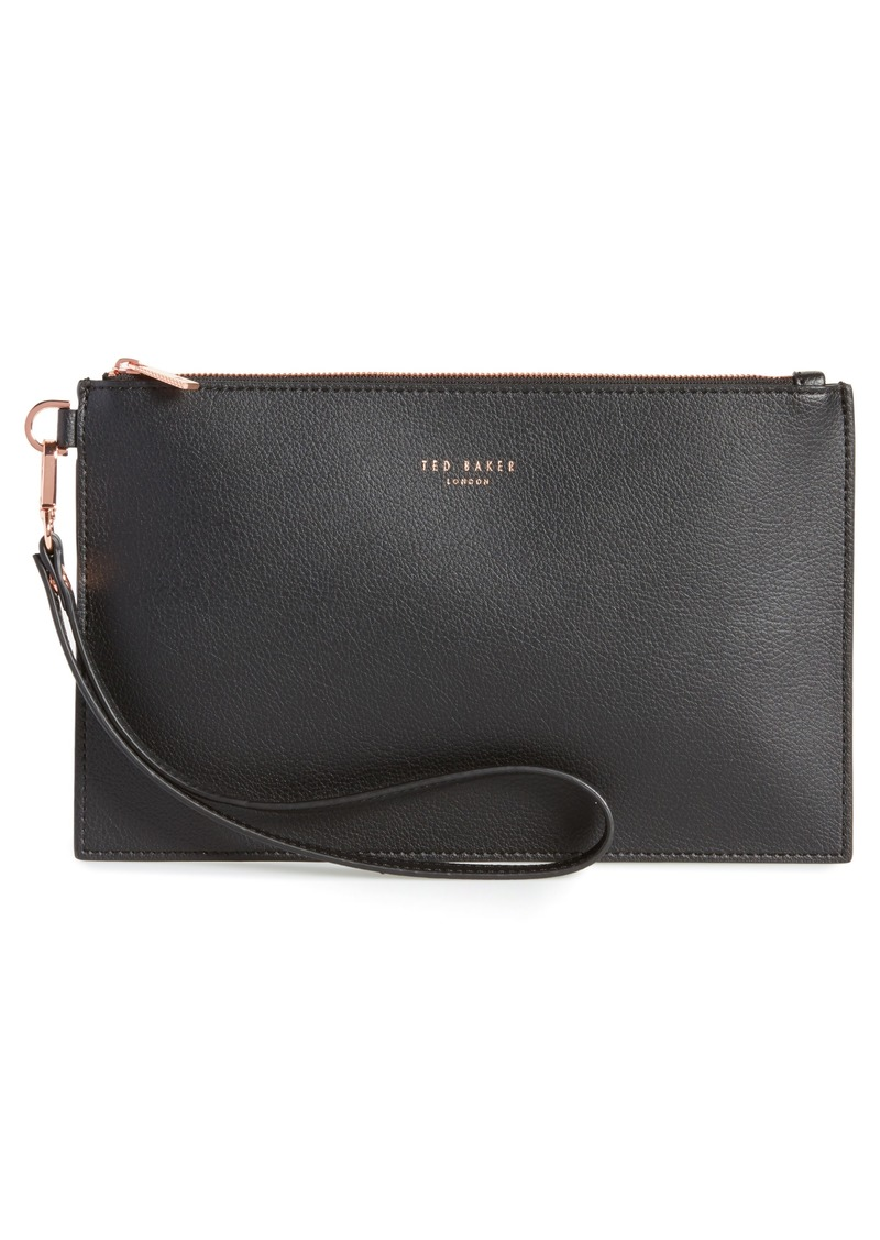 f865ed8891f35 Ted Baker Ted Baker London Top Zip Faux Leather Pouch