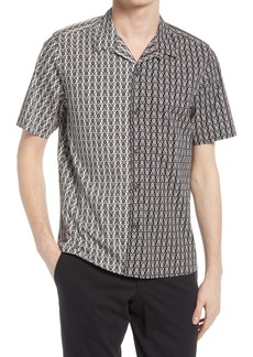 Ted Baker London Traila Floral Print Short Sleeve Button-Up Shirt