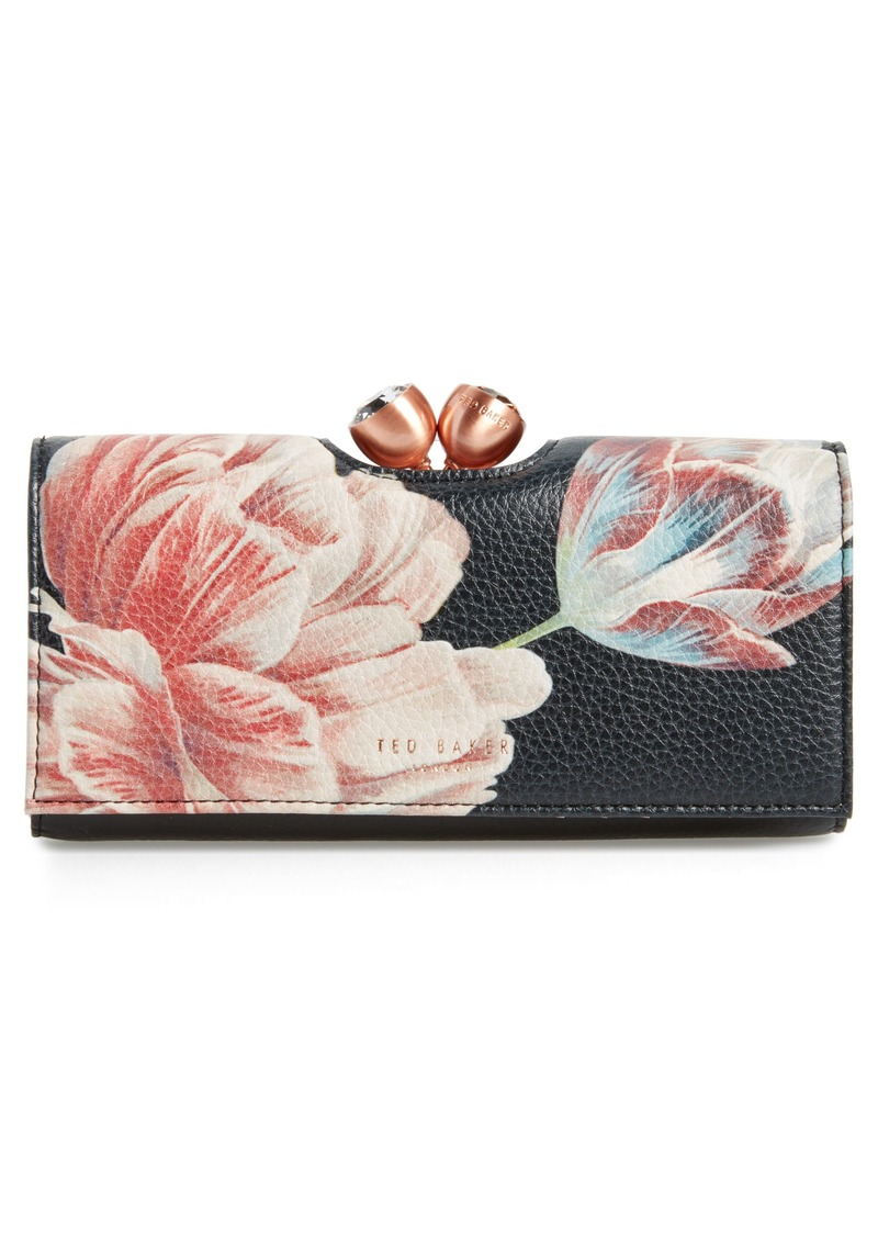 208cc658c Ted Baker Ted Baker London Tranquility Print Leather Matinée Wallet ...