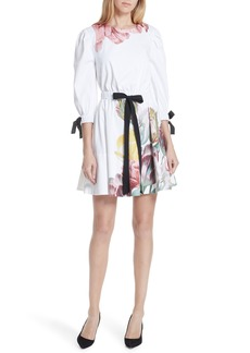 Ted Baker London Tranquility Stretch Cotton Dress
