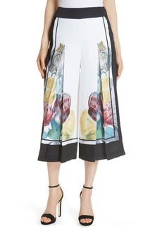 Ted Baker London Tranquility Wide Leg Crop Pants