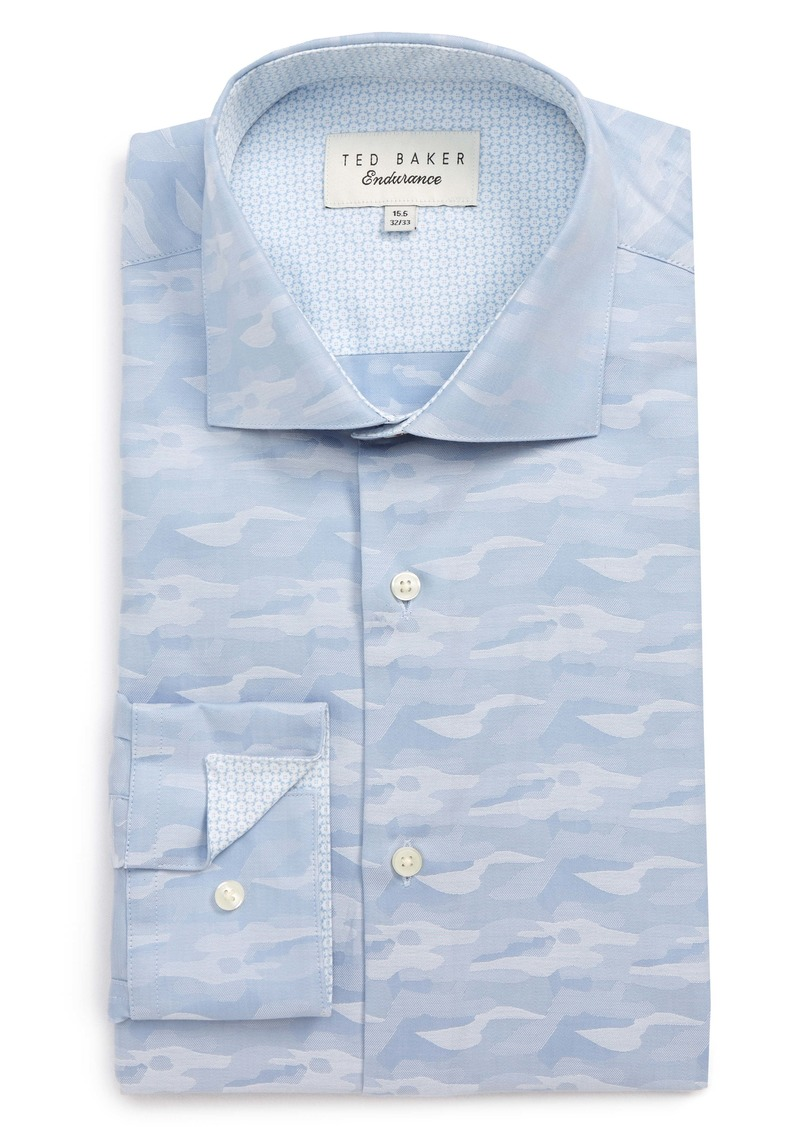 Ted Baker London Endurance Extra Slim Fit Camo Dress Shirt