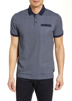 Ted Baker London Trim Fit Geo Pocket Polo