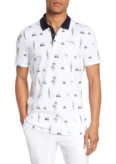 Ted Baker London Trim Fit Golf Print Polo