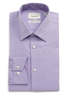 Ted Baker London Trim Fit Stretch Herringbone Dress Shirt