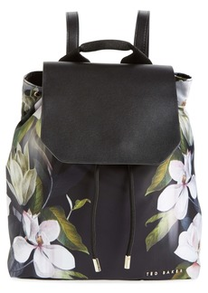 Ted Baker London Trindy Opal Floral Print Drawstring Backpack