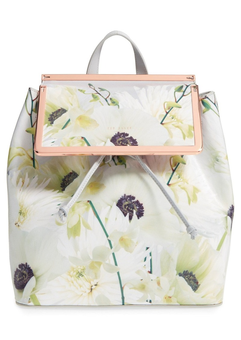 a1eb42a6a20 Ted Baker Ted Baker London 'Trinity' Floral Leather Backpack | Handbags