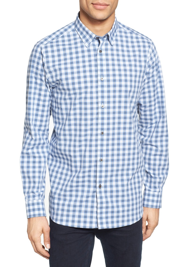 1336f71e5e60 SALE! Ted Baker Ted Baker London Tripup Extra Slim Fit Check Sport Shirt
