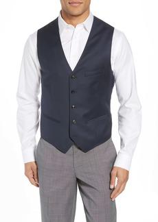 Ted Baker London Troy Slim Fit Solid Wool Vest