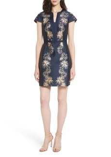 Ted Baker London Tzalla Sculpted Stardust Jacquard Dress
